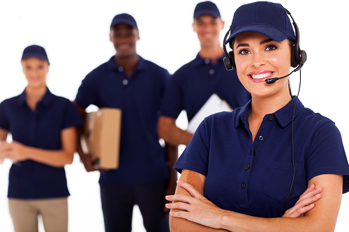 Team of delivery drivers